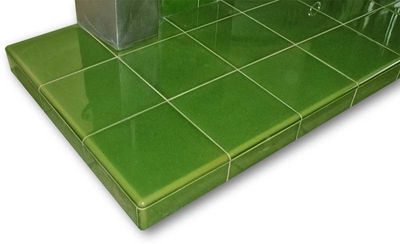 Completely new Fireplace Hearths in Square Plain Glazed Tiles | Fireplace Tiles YX05