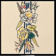 Bird and Butterfly Border Tile 2 with a round edge (RE)