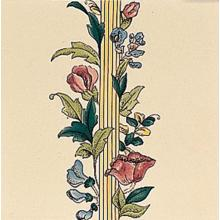 Poppy and Wheatsheaf Border Tile FLAT Floral