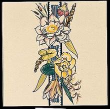 Bird and Butterfly Border Tile 1 with a round edge (RE)