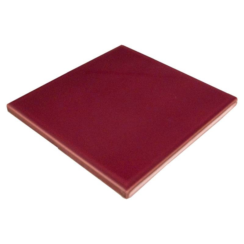 Plain edged 6 inch square tile